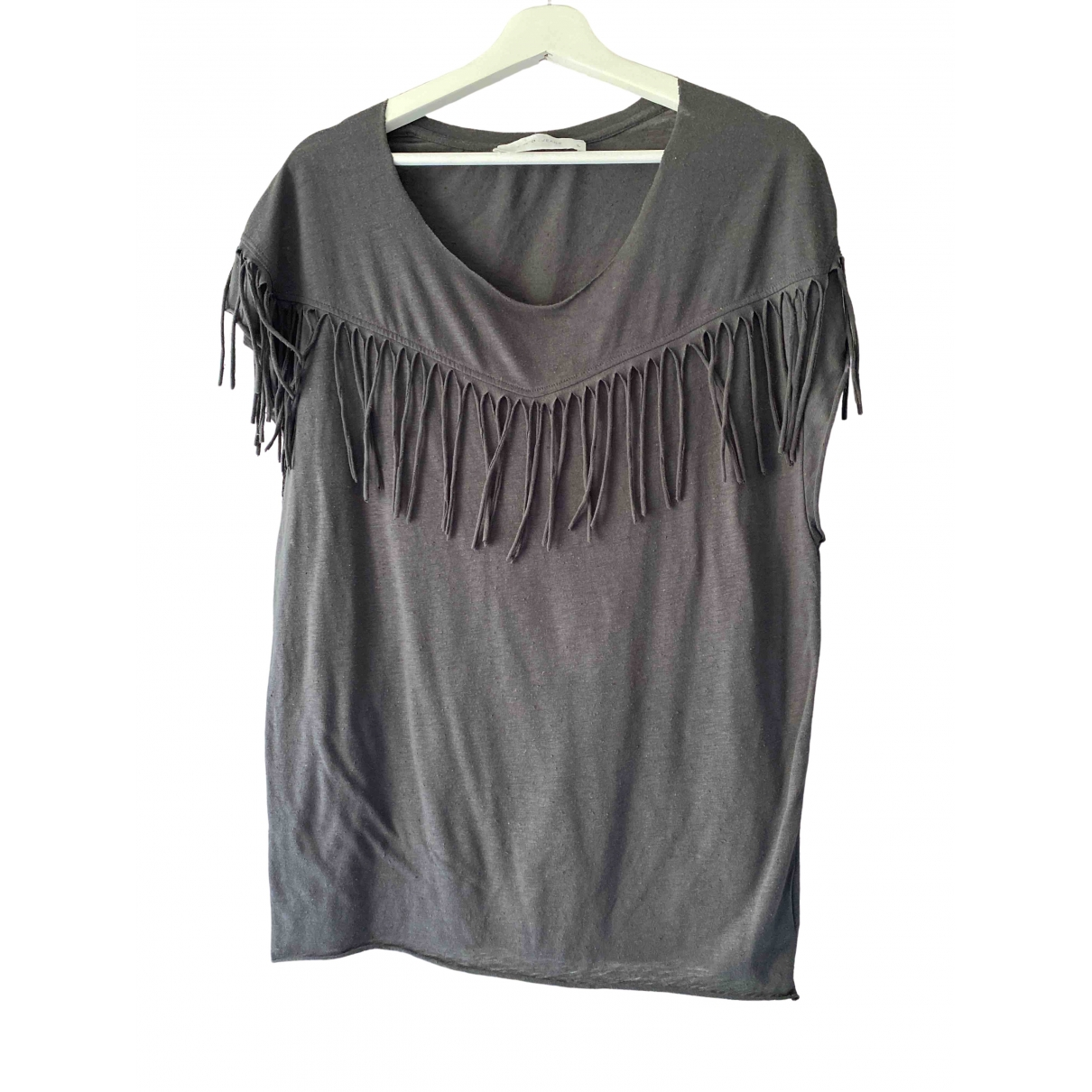 Iro \N Anthracite Cotton  top for Women L International