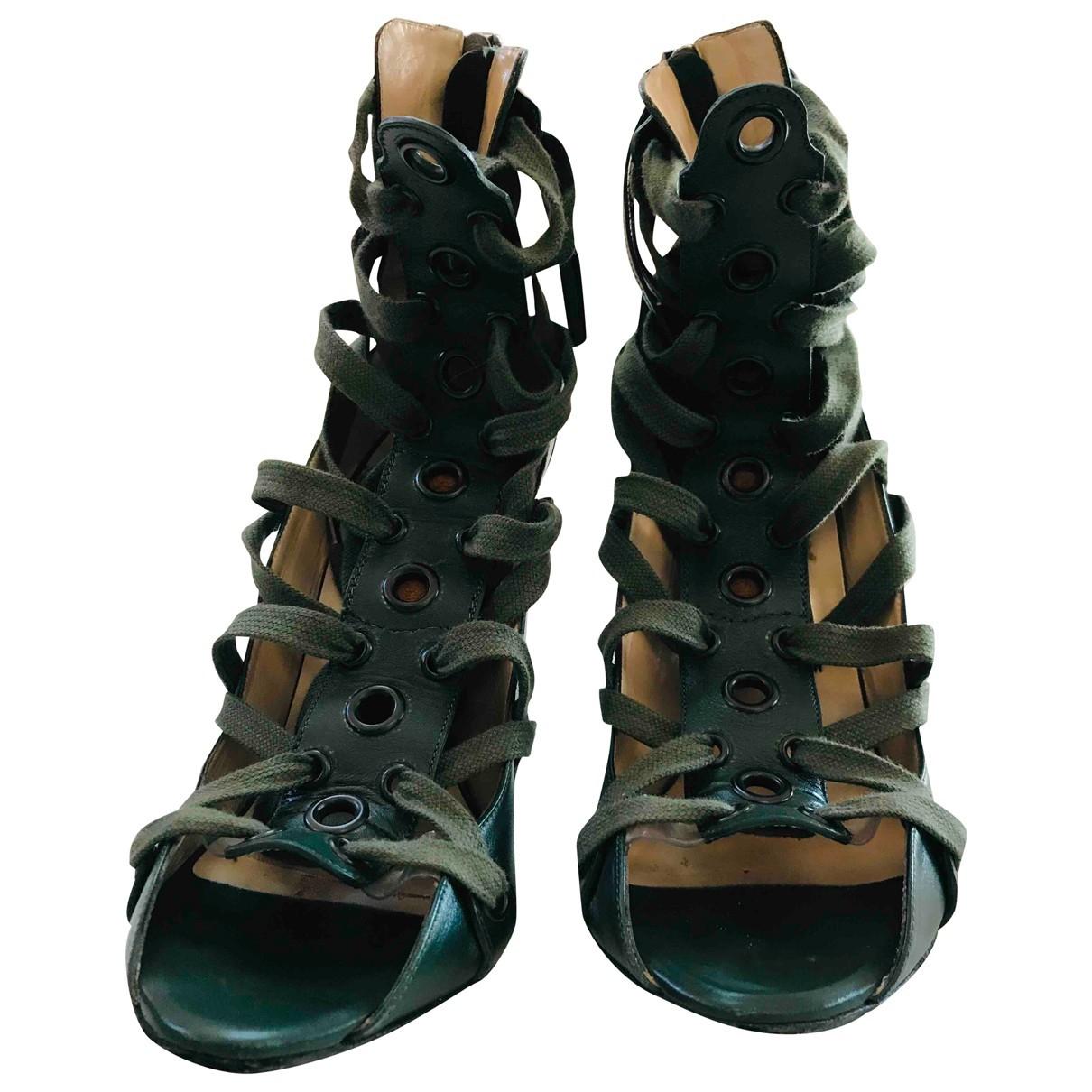 N°21 N Green Leather Heels for Women 39 IT