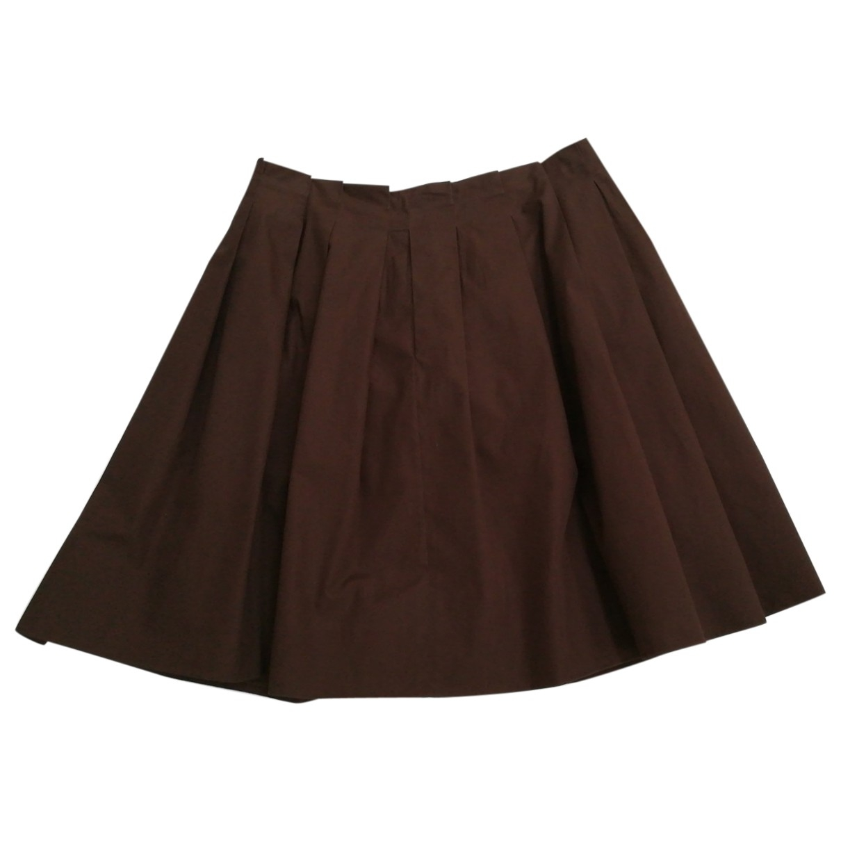 Chloe - Jupe   pour femme en coton - marron