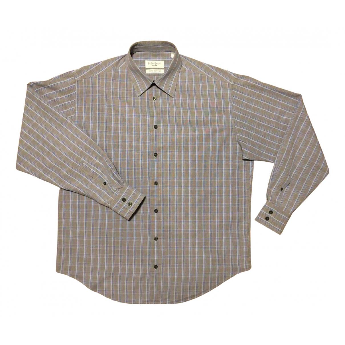 Yves Saint Laurent \N Hemden in  Grau Baumwolle