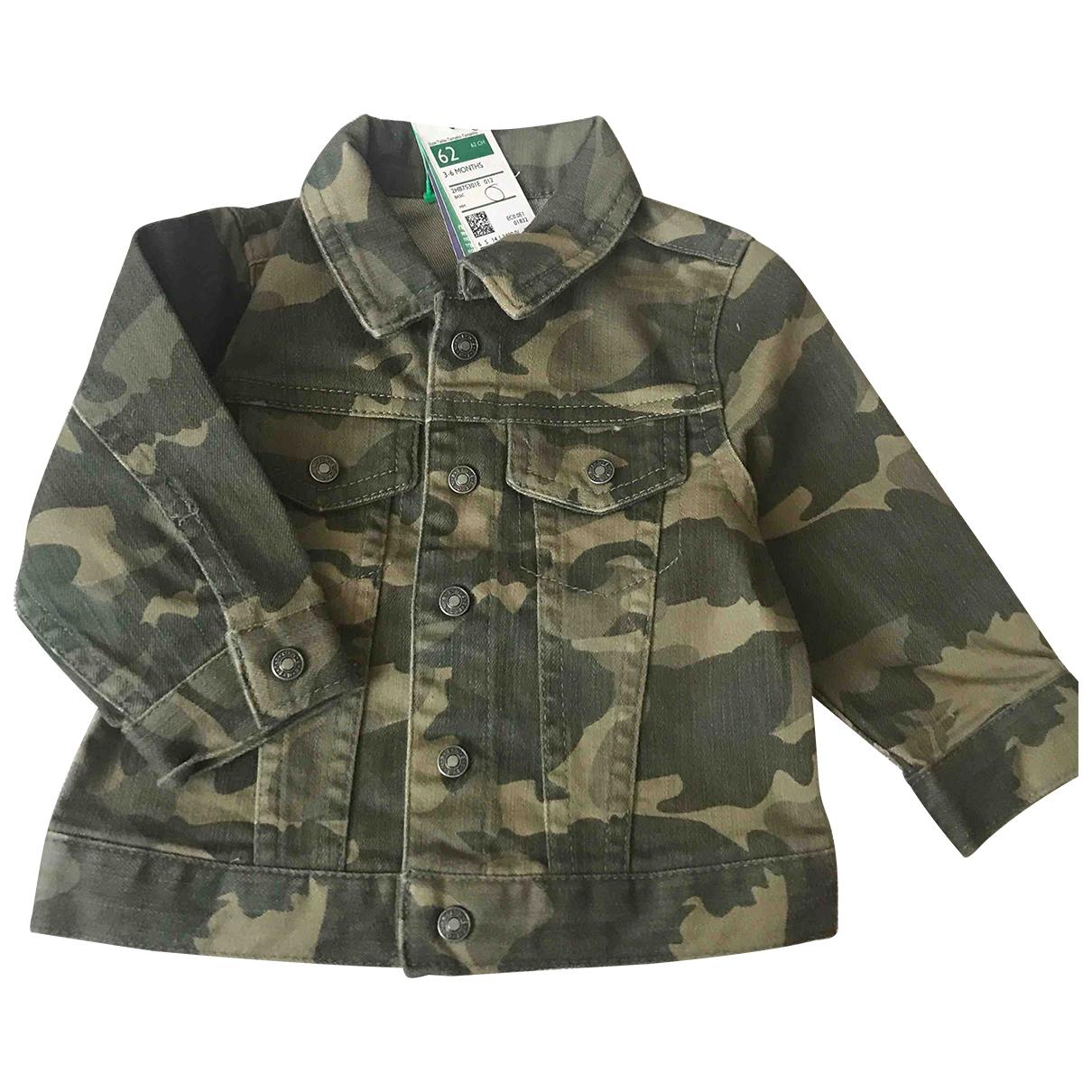 Benetton - Blousons.Manteaux   pour enfant en denim - vert