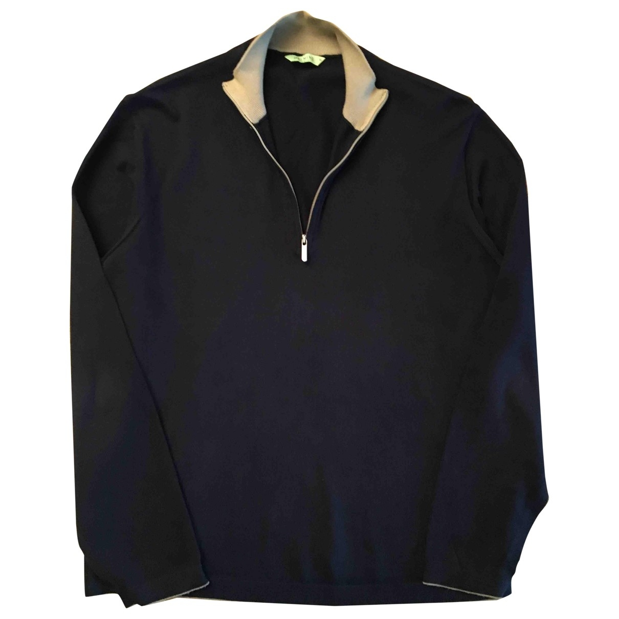 Non Signé / Unsigned \N Navy Cotton Knitwear & Sweatshirts for Men 50 IT