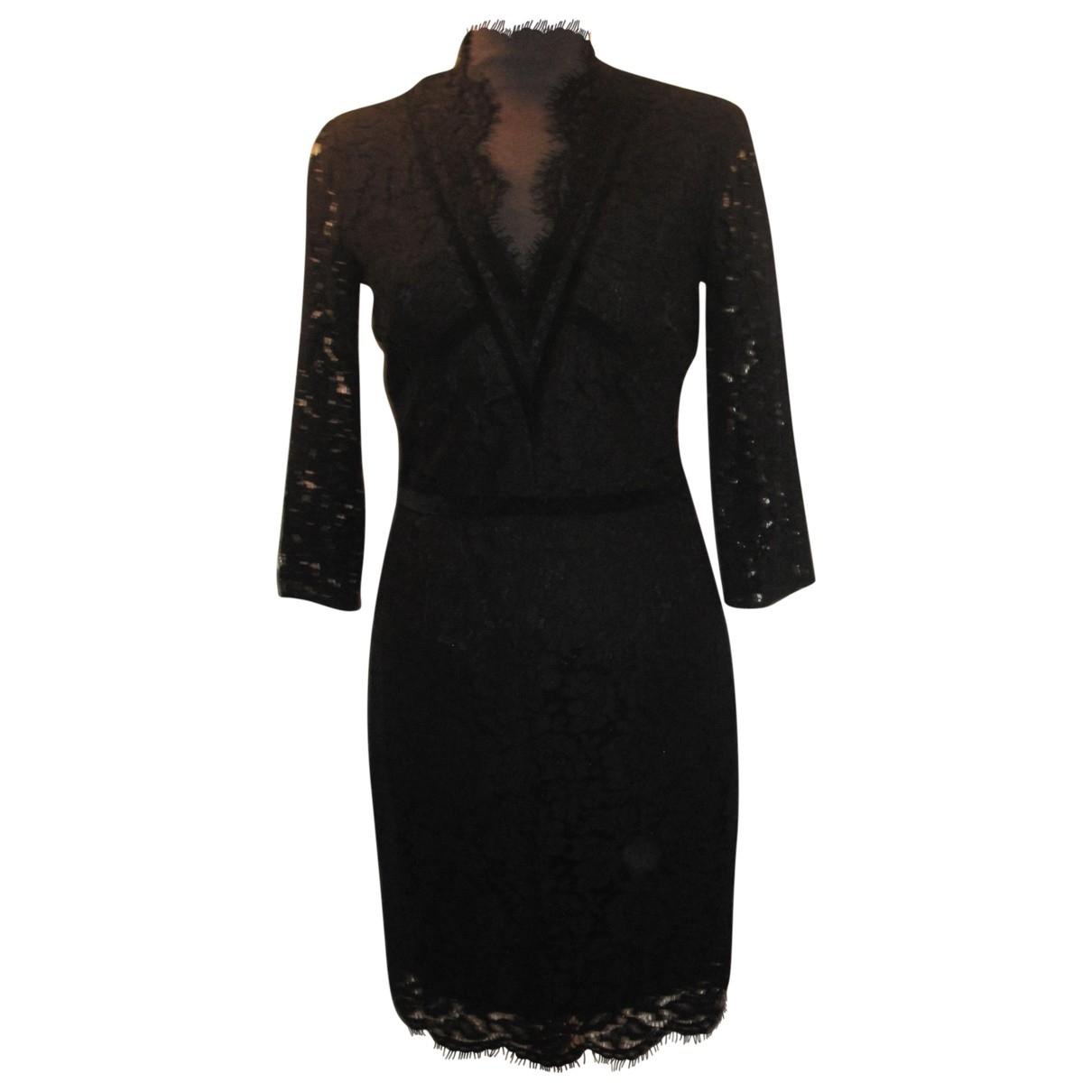 Set - Robe   pour femme en dentelle - noir