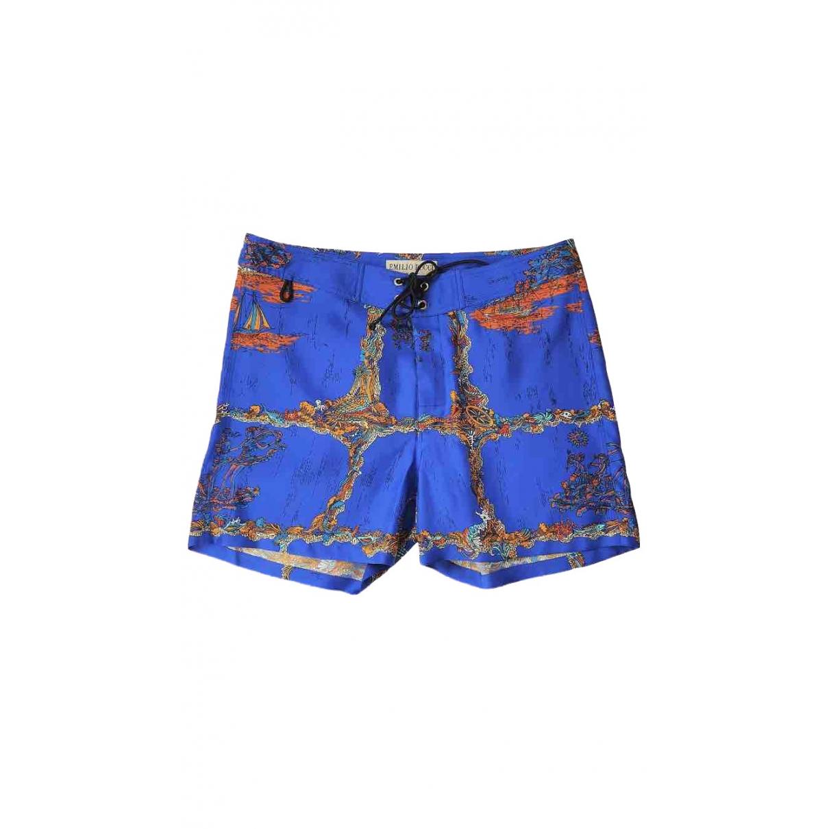 Emilio Pucci \N Shorts in  Blau Seide