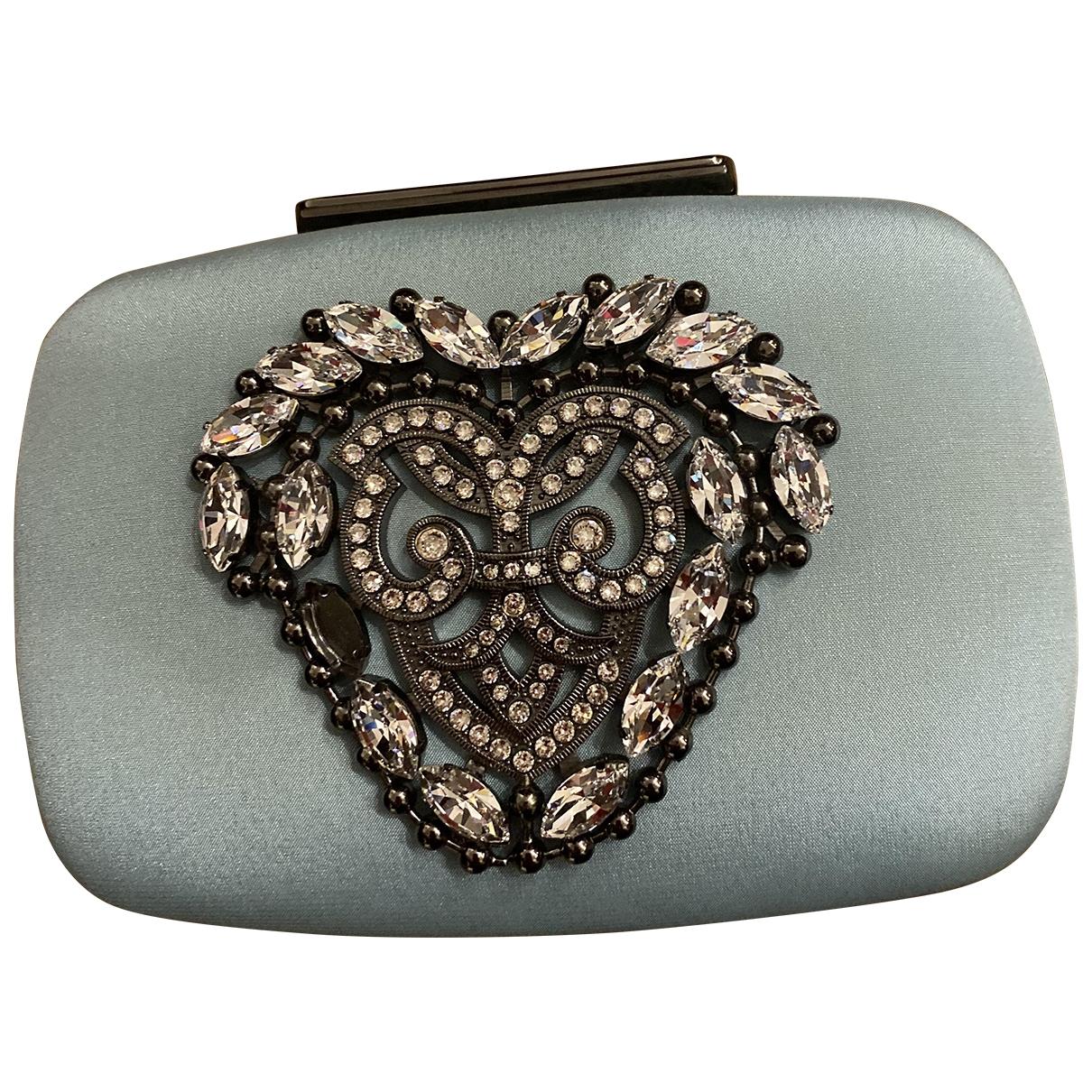 Manolo Blahnik \N Green Metal Clutch bag for Women \N