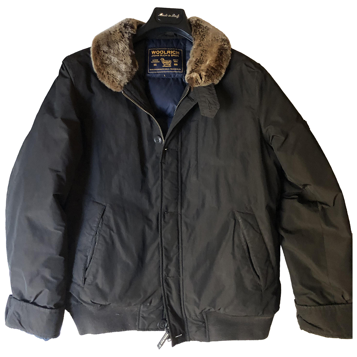 Woolrich N Anthracite coat  for Men 50 IT