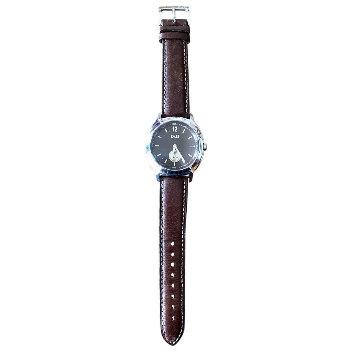 Dolce & Gabbana \N Uhr in  Braun Stahl