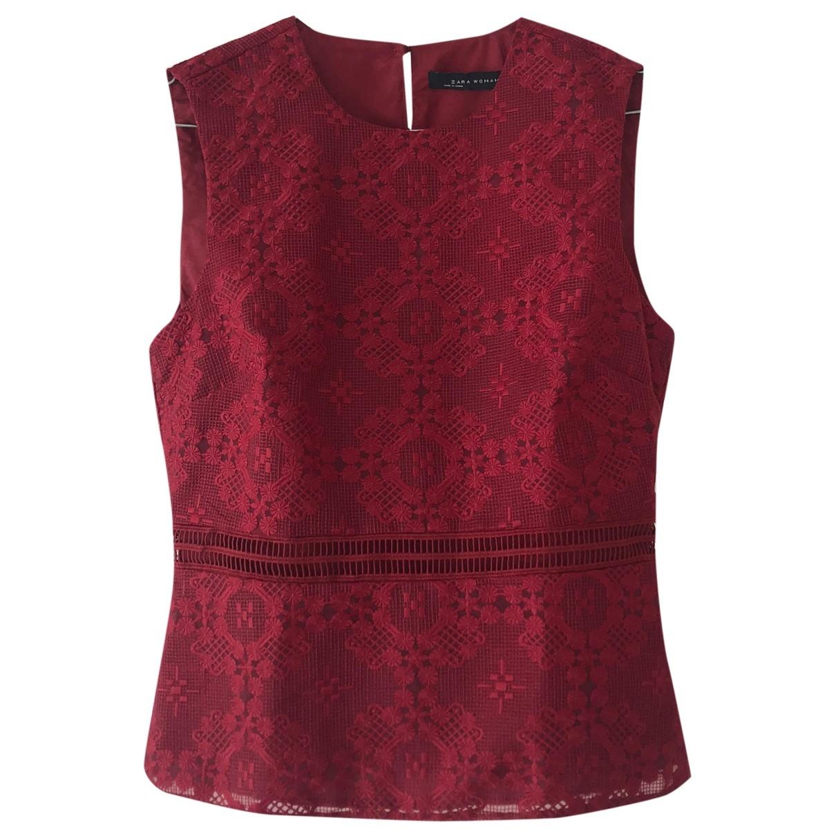 Zara \N Red Lace  top for Women S International