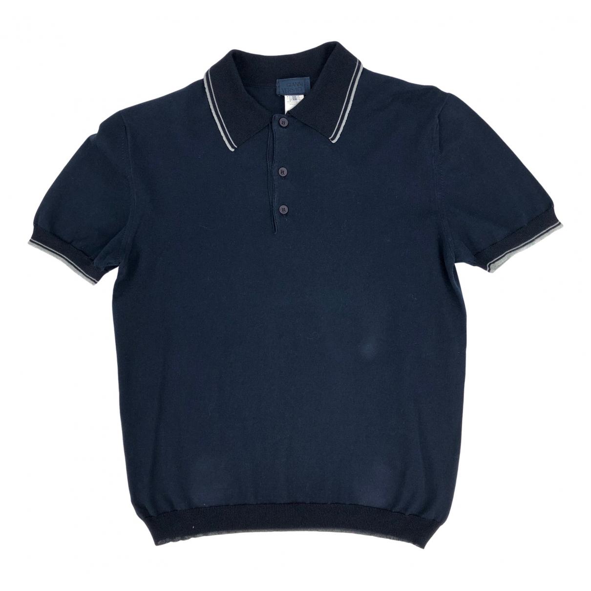 Polo en Algodon Azul Versace