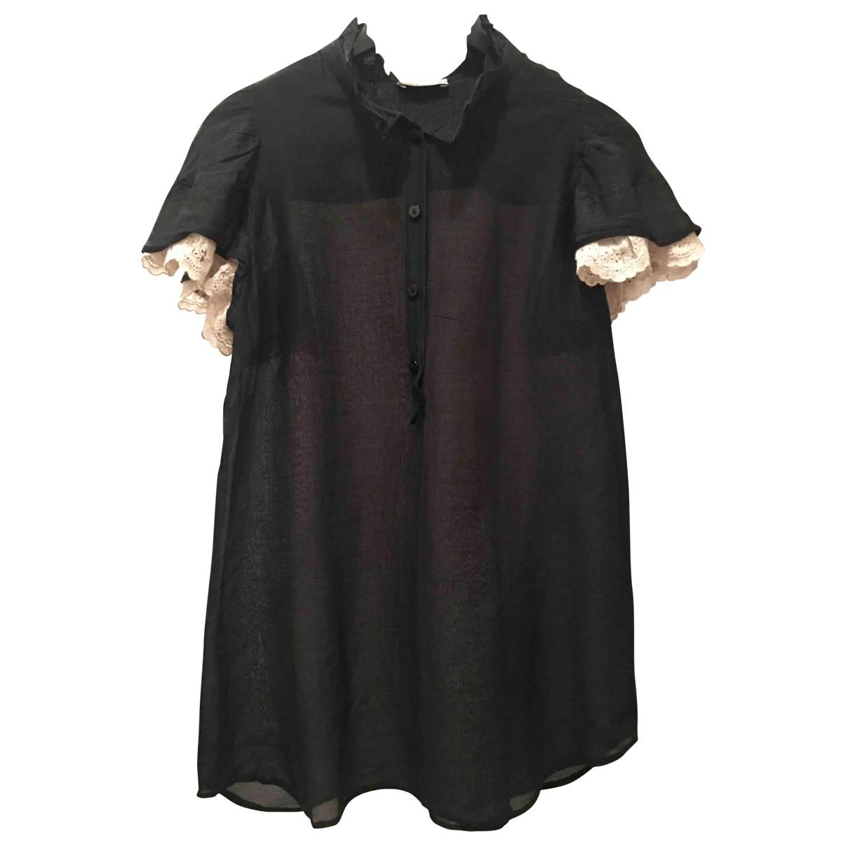 Red Valentino Garavani - Top   pour femme en coton - noir