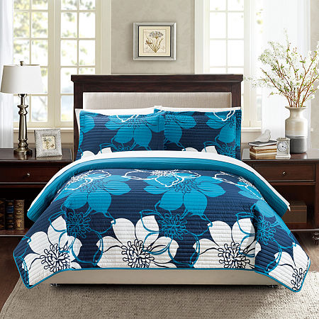 Chic Home Woodside 7-pc. Quilt Set, One Size , Blue