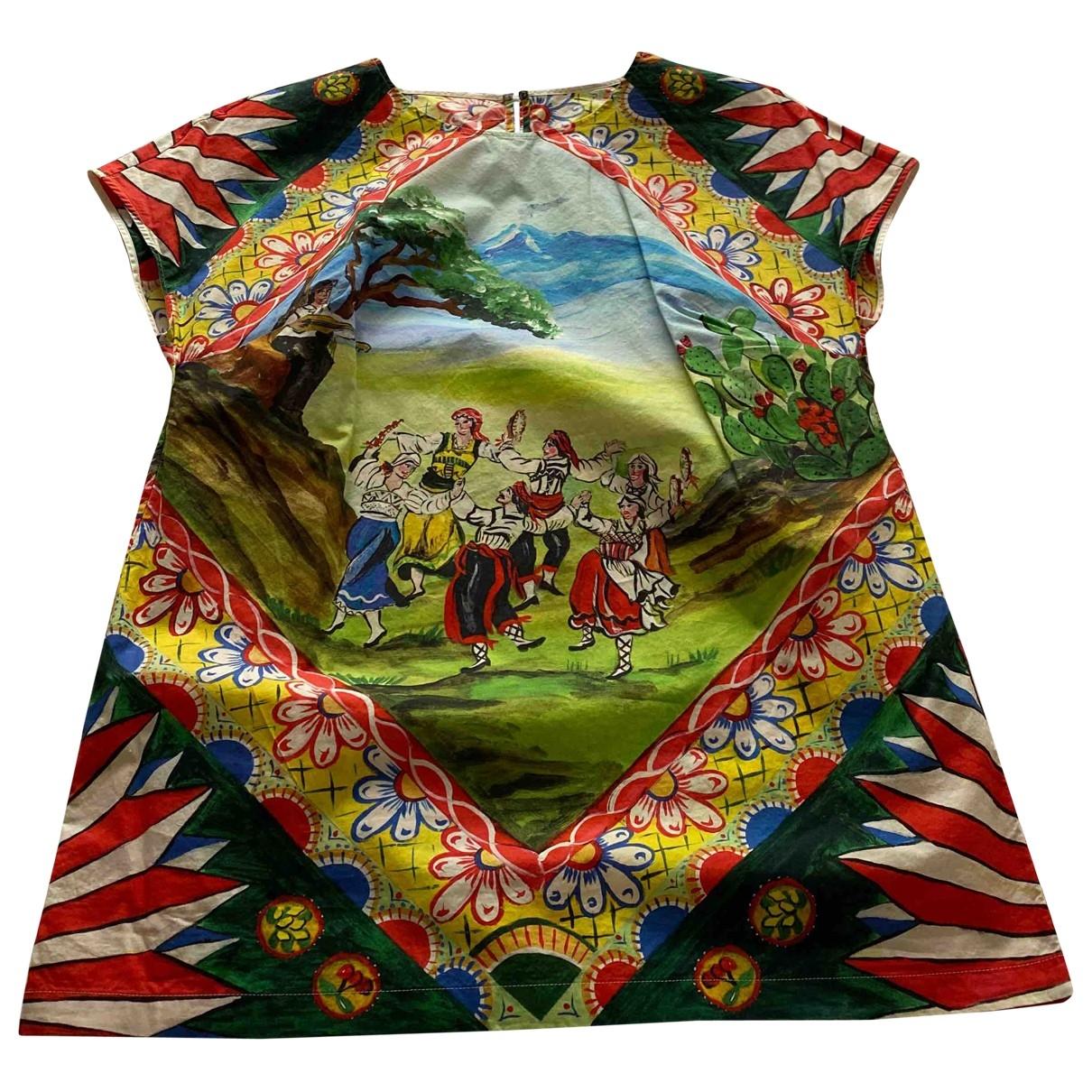 Dolce & Gabbana \N Multicolour Cotton  top for Women 42 FR