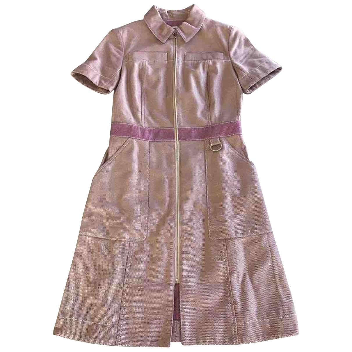 Hermes \N Kleid in  Rosa Baumwolle