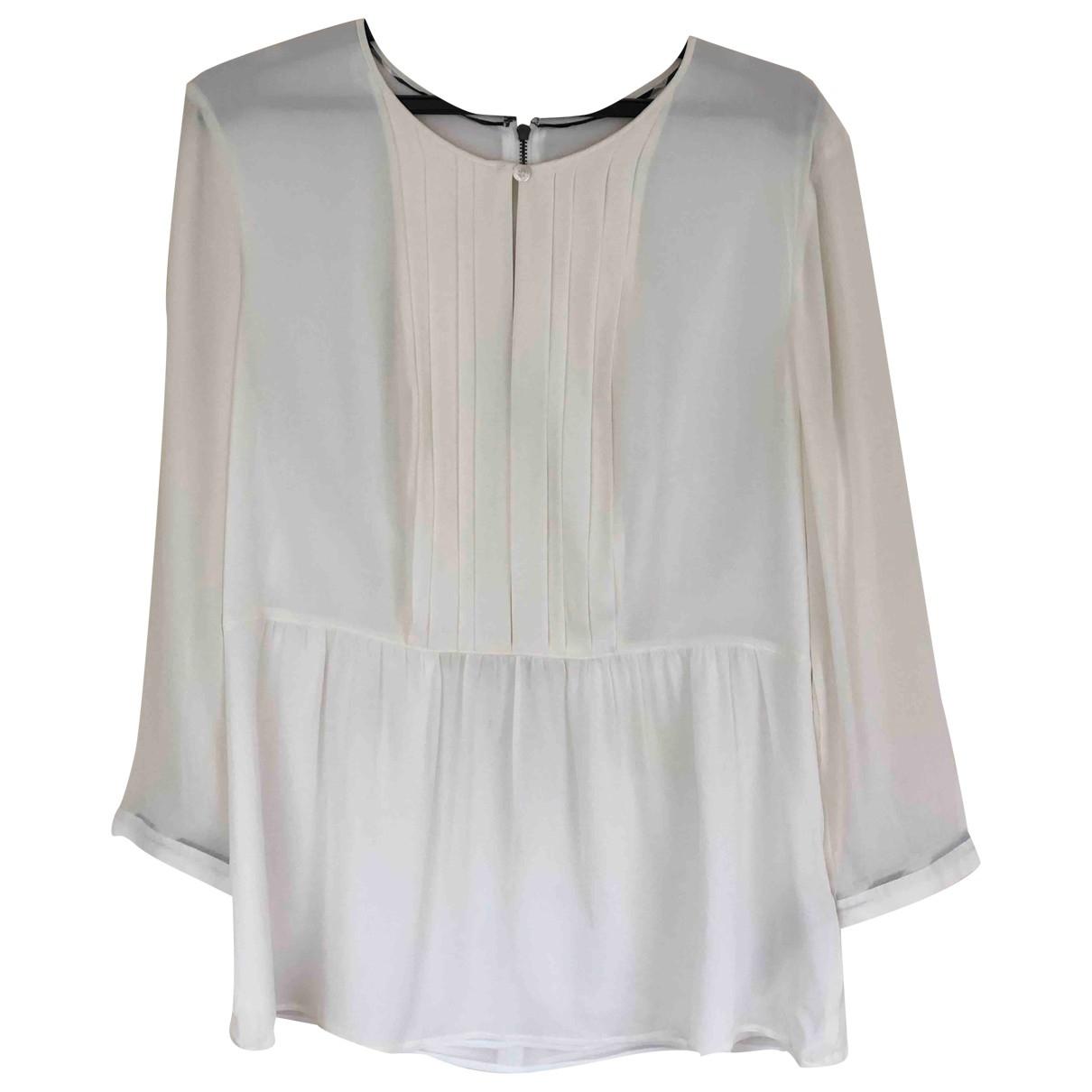 Burberry - Top   pour femme en soie - blanc