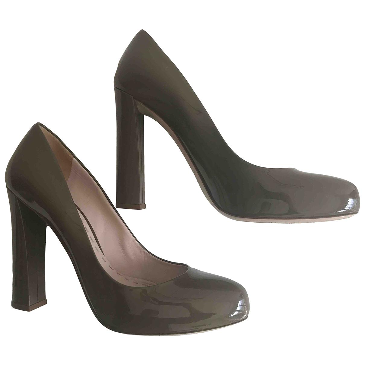 Miu Miu \N Khaki Patent leather Heels for Women 40 EU