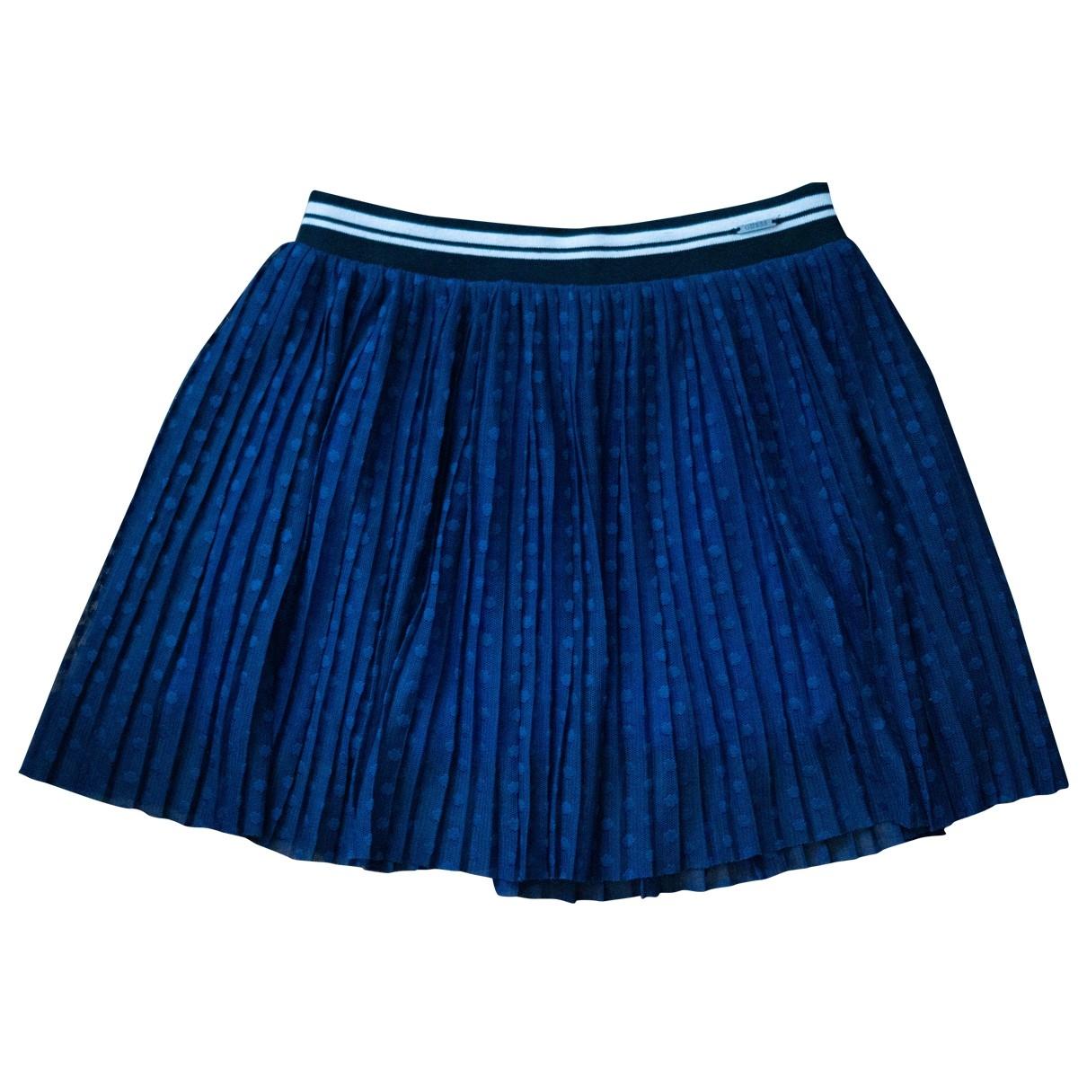 Guess - Jupe   pour femme en coton - bleu