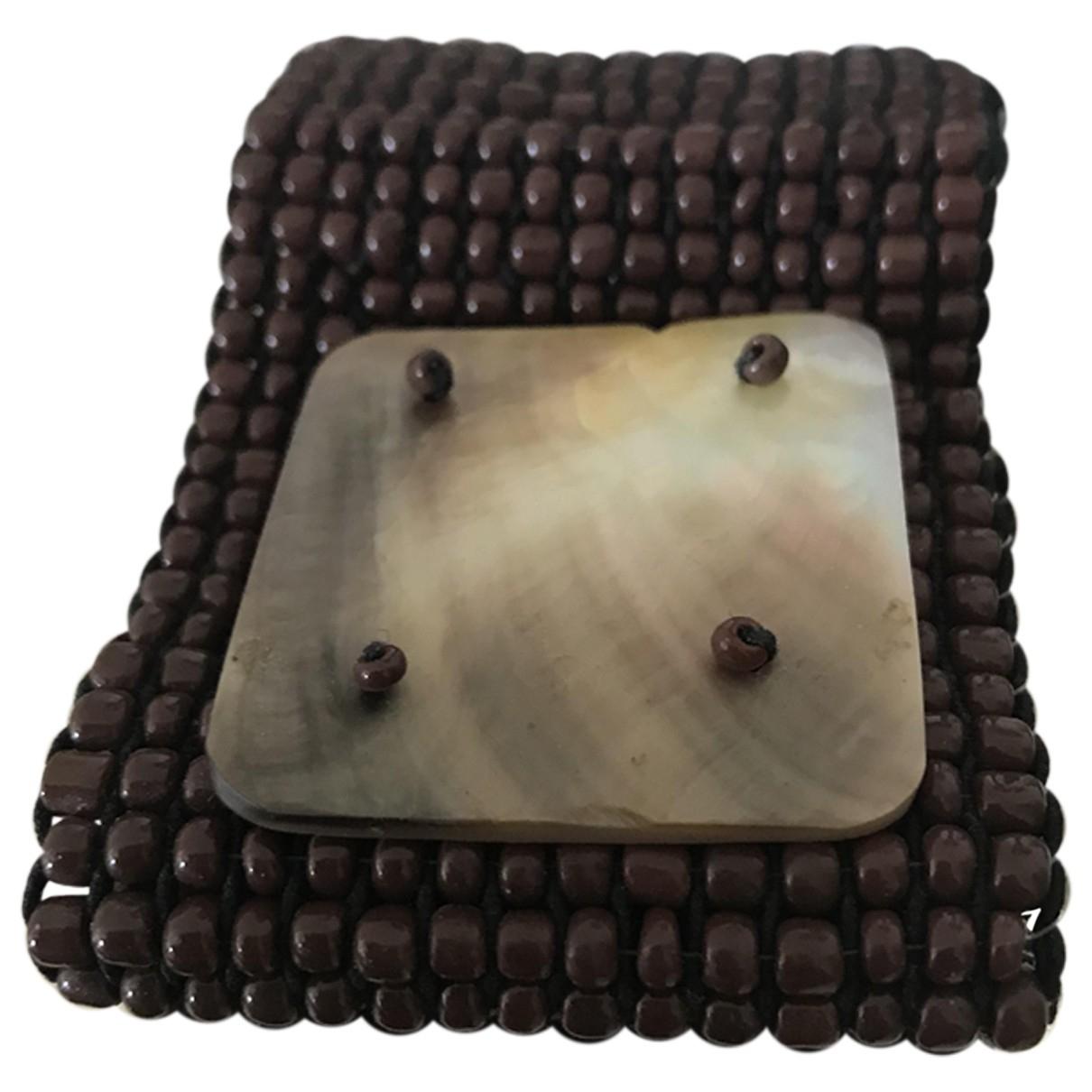 Melissa Odabash - Bracelet   pour femme en perles - marron