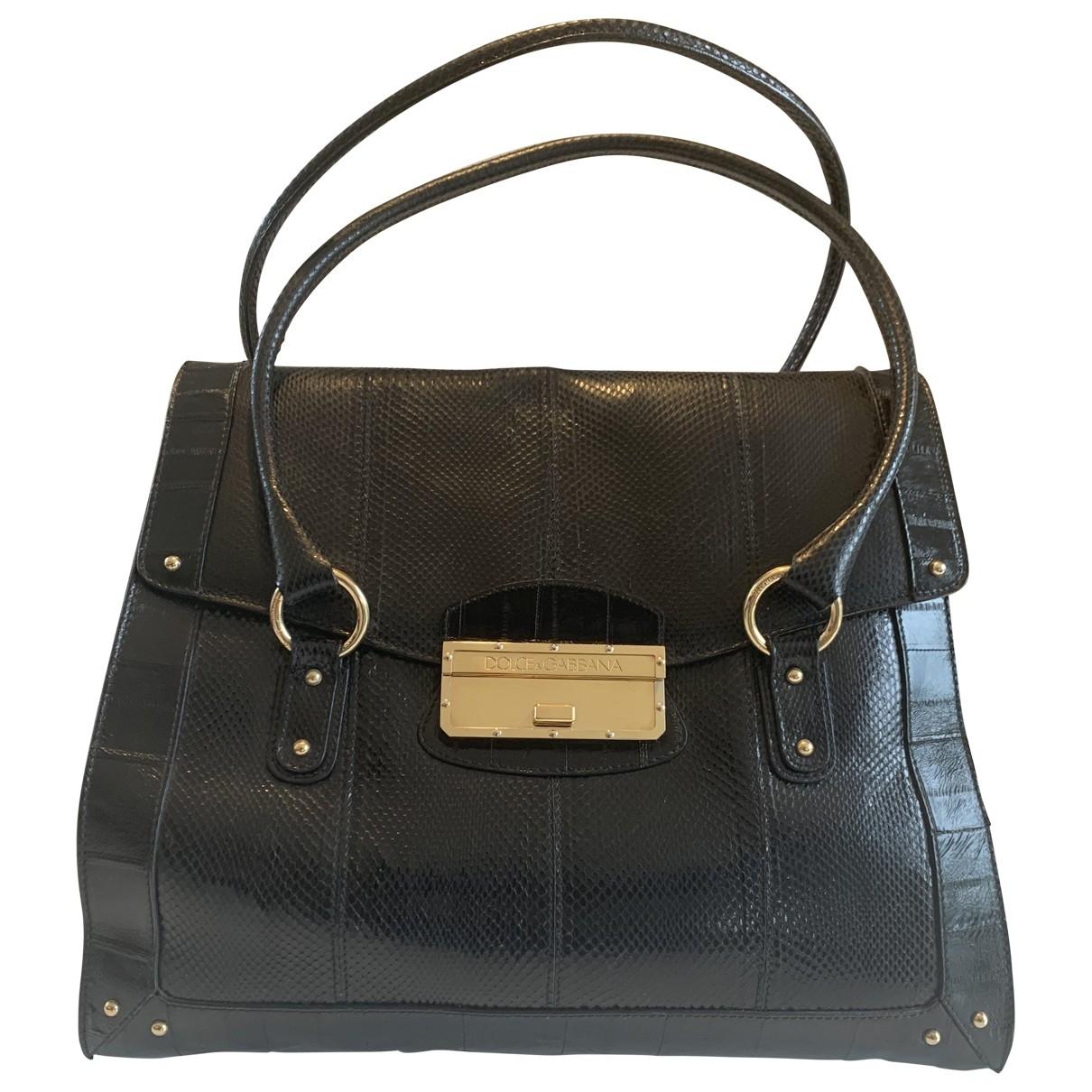 Dolce & Gabbana \N Handtasche in  Schwarz Python