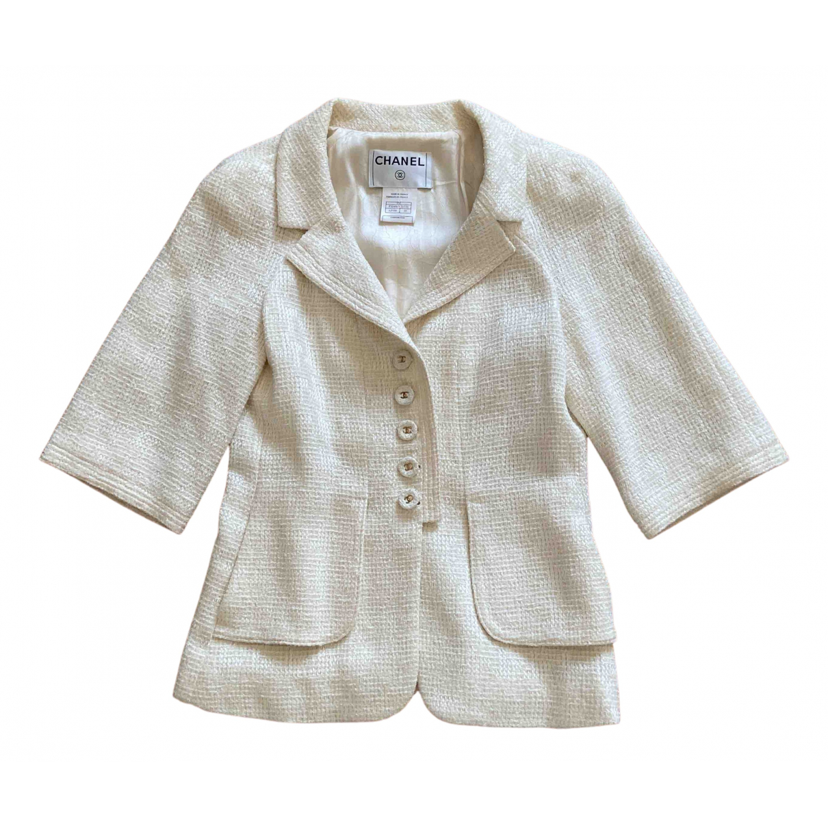 Chanel N White Cotton jacket for Women 38 FR