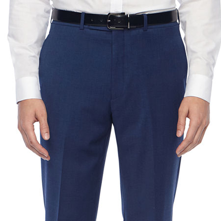 Collection by Michael Strahan Mens Grid Classic Fit Suit Pants, 32 29, Blue