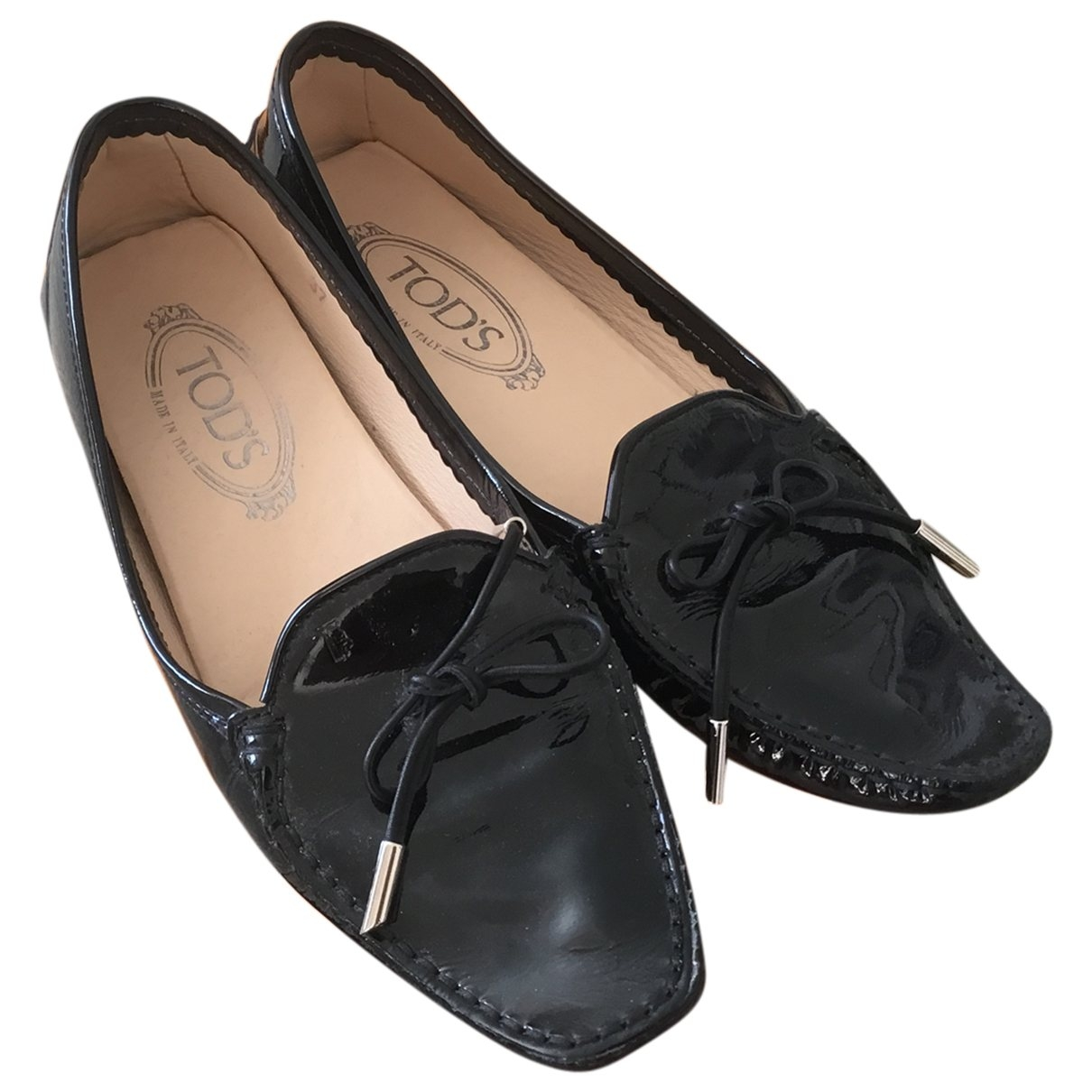 Tod's \N Black Patent leather Flats for Women 37 EU