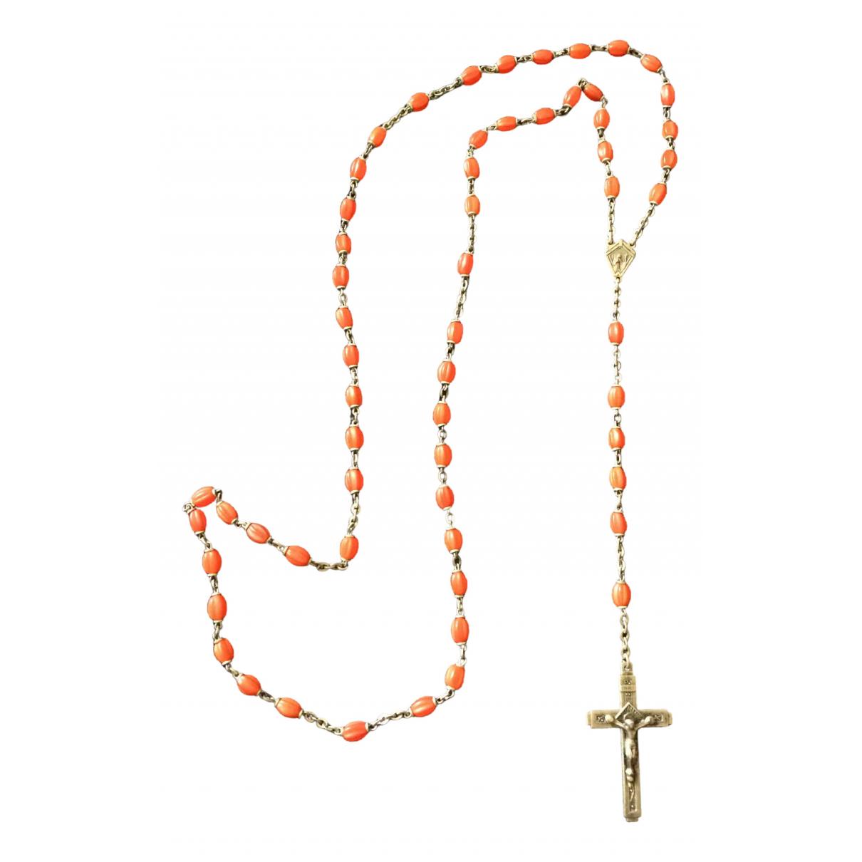 - Collier Corail pour femme en argent - orange