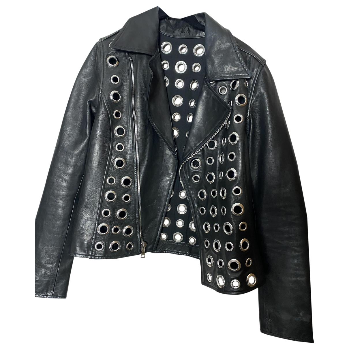 Rta - Veste   pour femme en cuir - noir