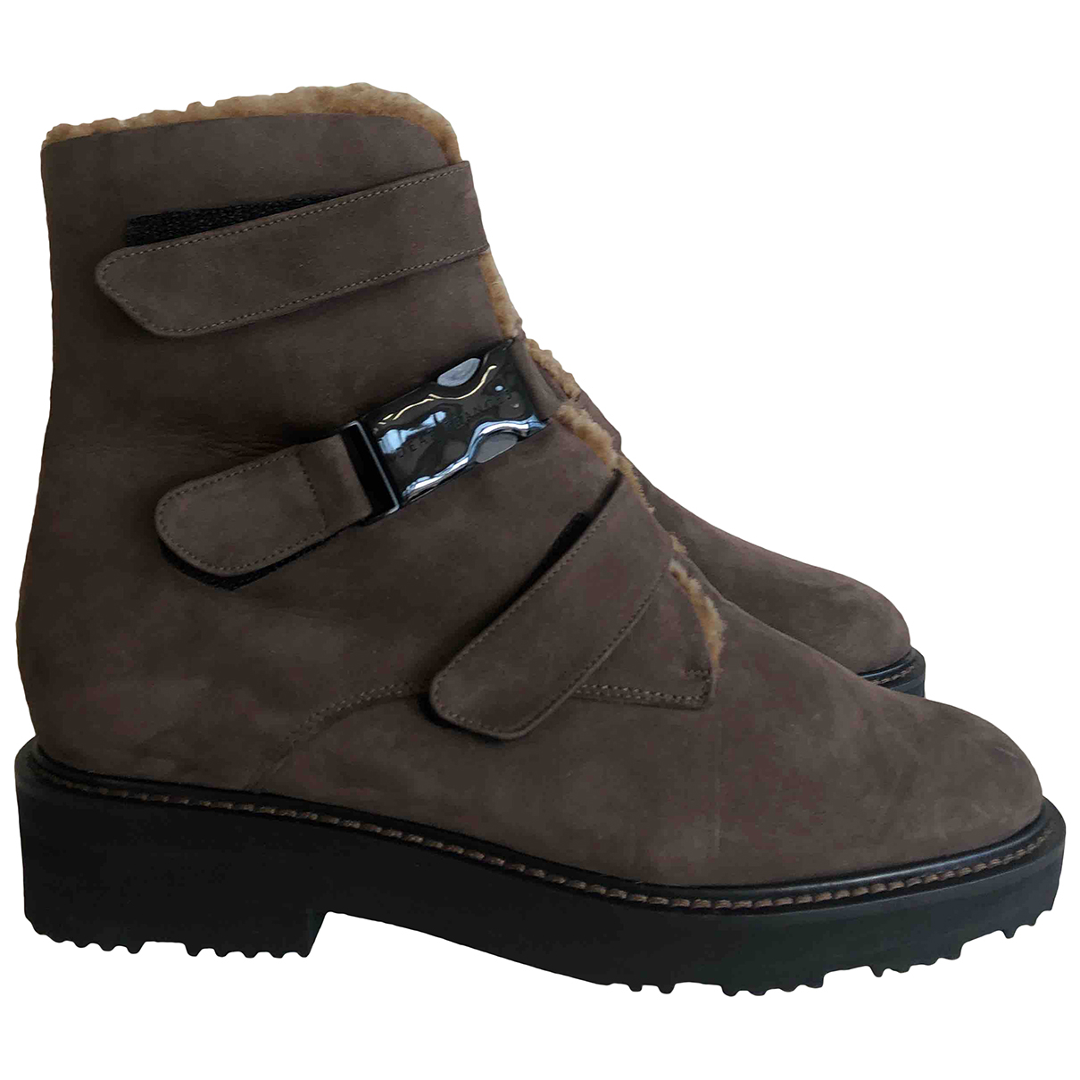 Dear Frances \N Brown Leather Ankle boots for Women 37 IT
