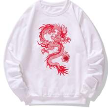 Sudadera con estampado de dragon chino