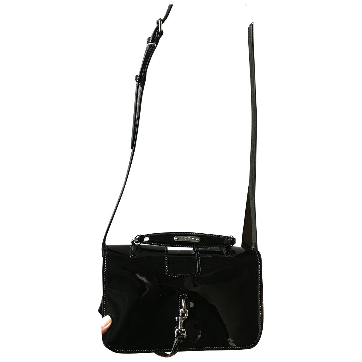 Saint Laurent Charlotte Messenger Handtasche in  Schwarz Lackleder