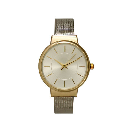 Olivia Pratt Womens Two Tone Strap Watch-27011twotone, One Size , No Color Family