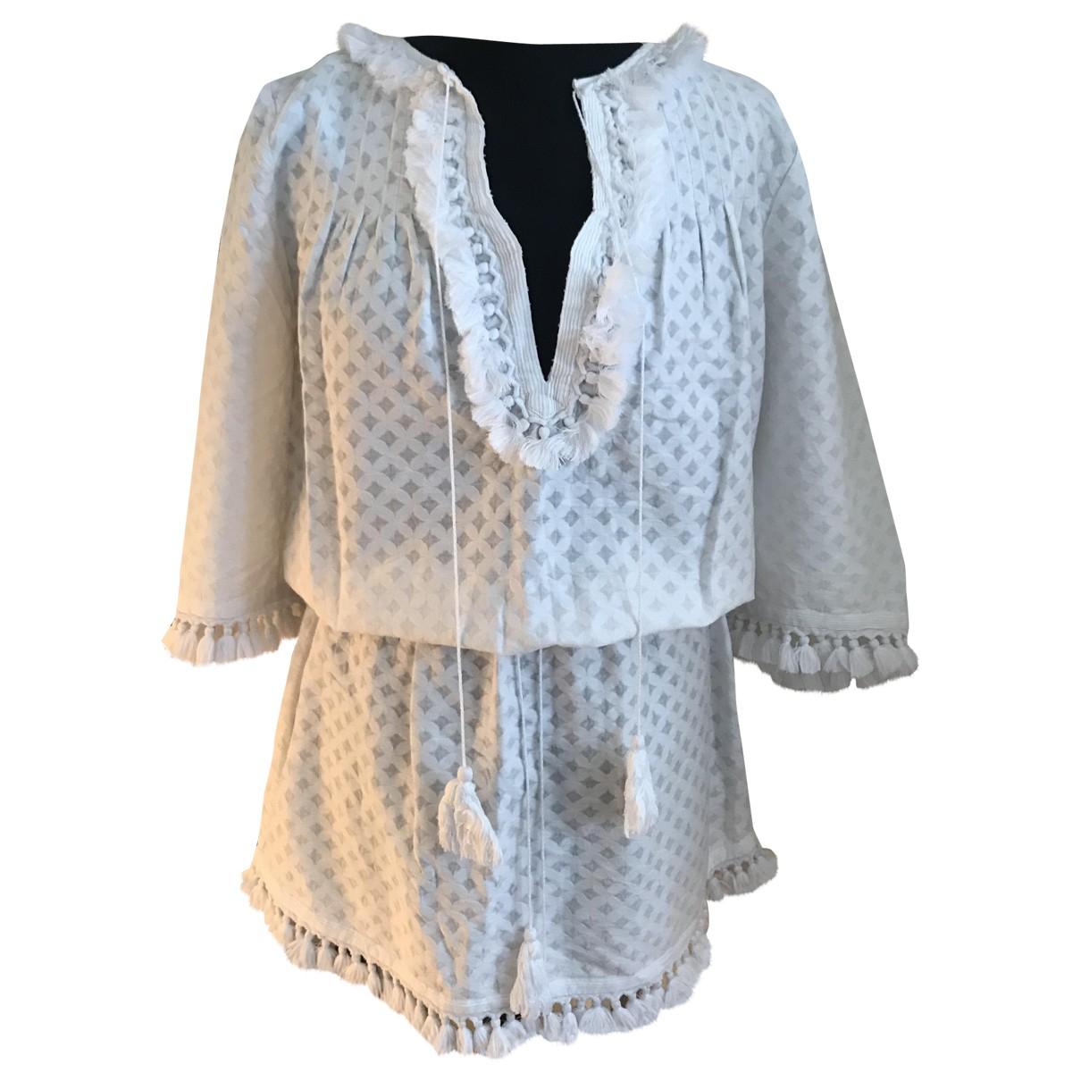 Talitha \N Kleid in  Weiss Baumwolle