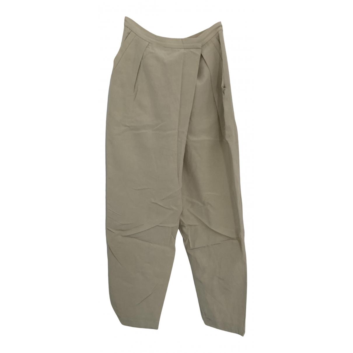 Stella Mccartney N Ecru Cotton Trousers for Women 38 FR