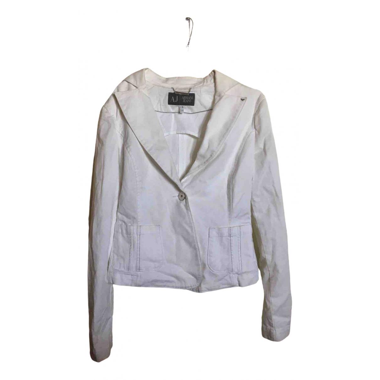 Armani Jean - Veste   pour femme en coton - blanc