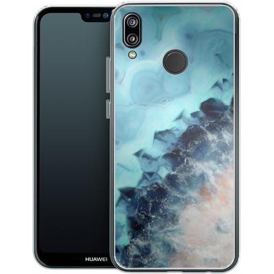Huawei P20 Lite Silikon Handyhuelle - Ocean Agate von Emanuela Carratoni