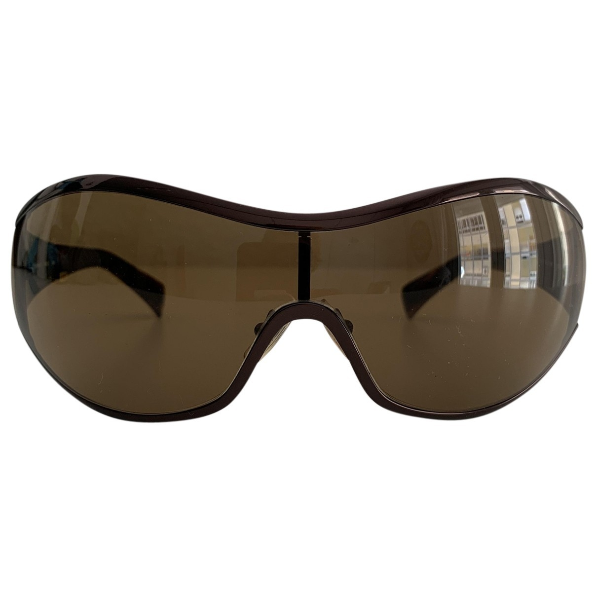 Calvin Klein \N Sonnenbrillen in  Braun Metall