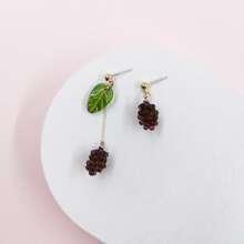 Grape Design Drop Earrings