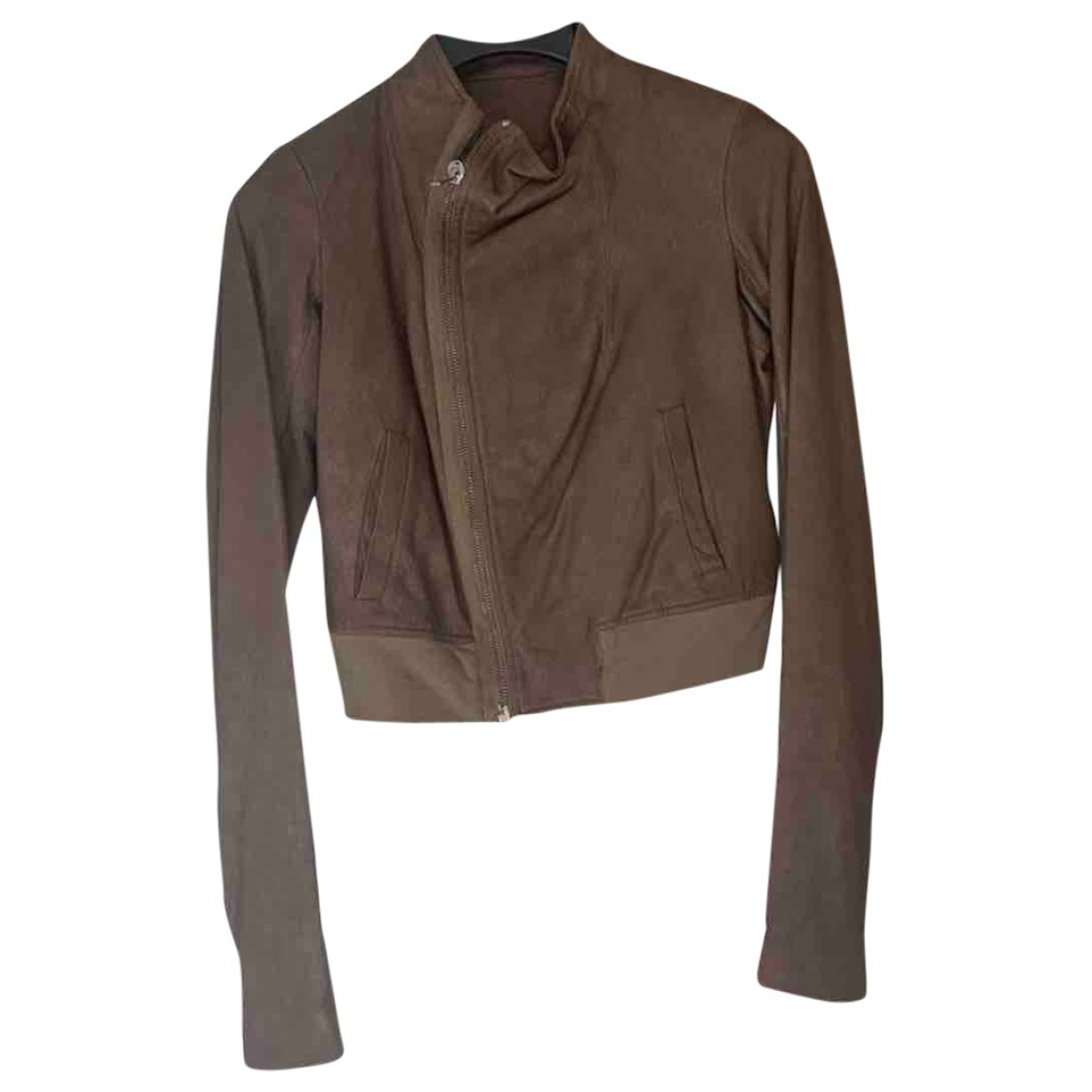 Rick Owens \N Brown Leather jacket for Women 10 UK