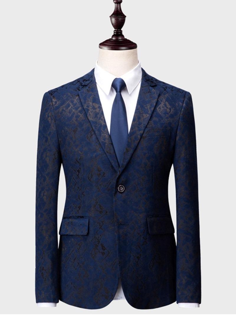 Ericdress Printed Plain 3 Pieces Mens Casual Tuxedo Suits