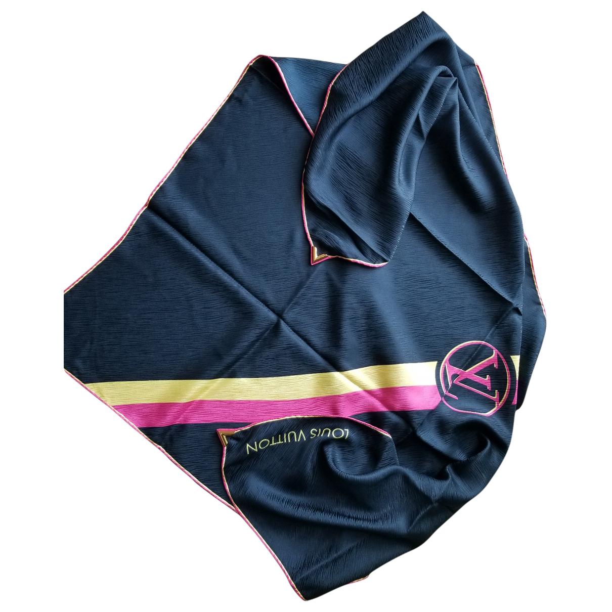 Louis Vuitton \N Schal in  Marine Seide