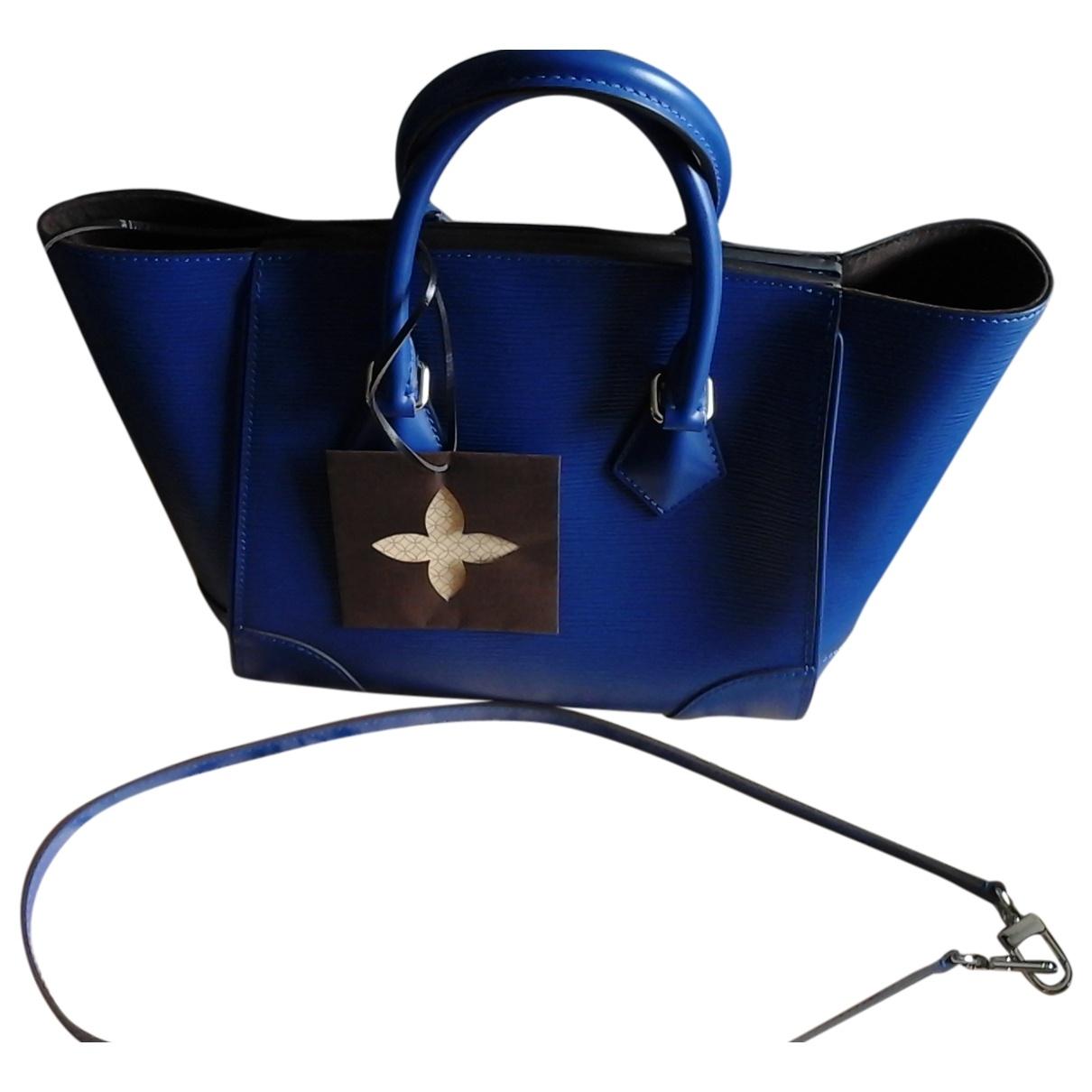 Louis Vuitton Phenix Handtasche in  Blau Leder