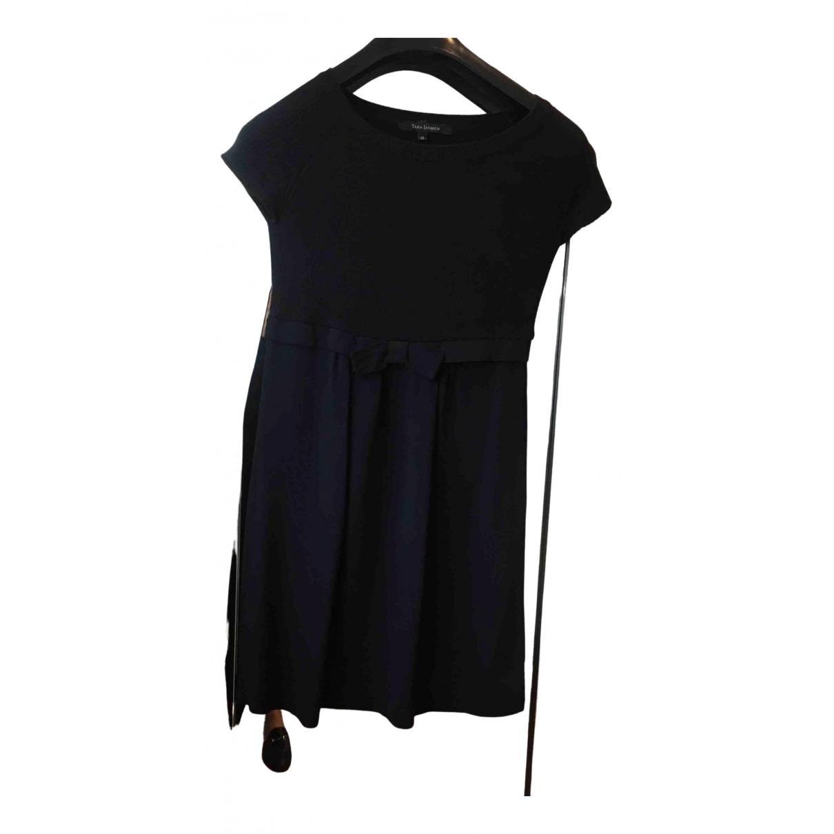 Tara Jarmon \N Kleid in  Schwarz Viskose