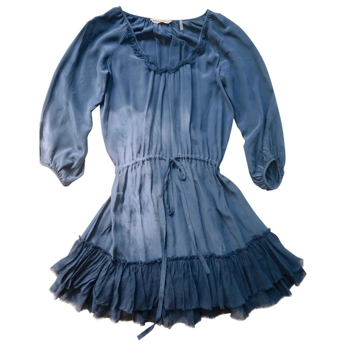 Rebecca Taylor \N Kleid in  Blau Seide