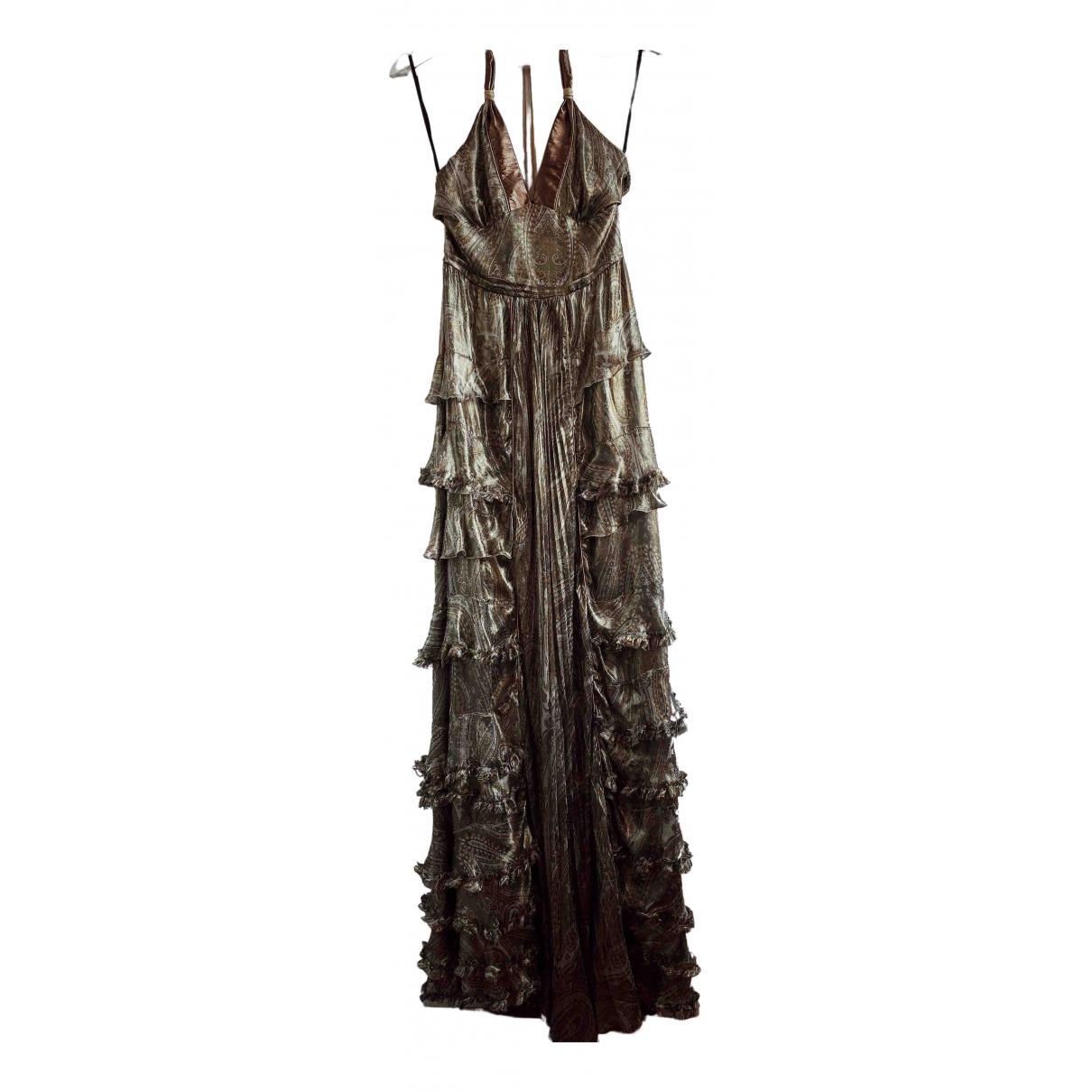 D&g - Robe   pour femme en soie - dore
