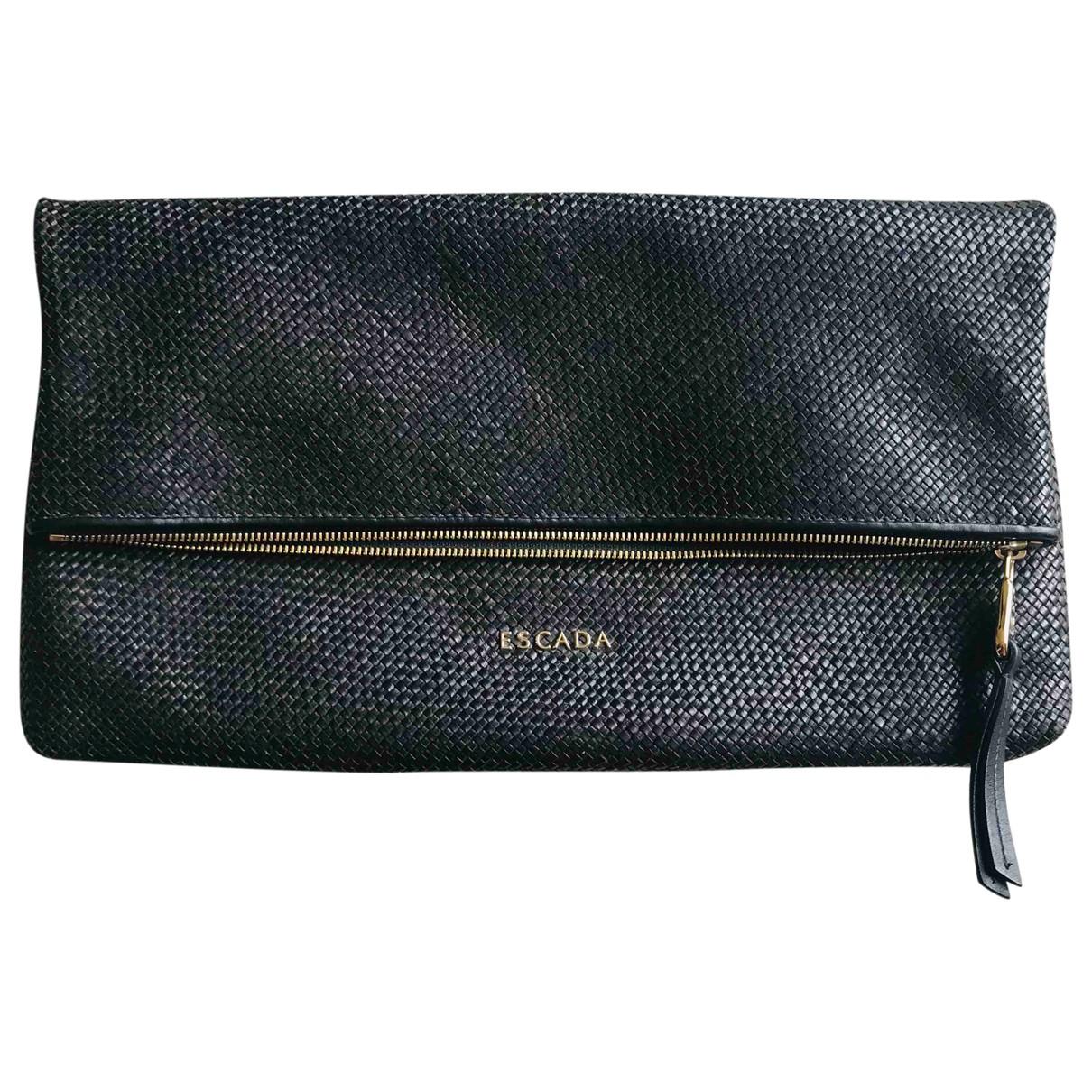Escada \N Black Leather Clutch bag for Women \N
