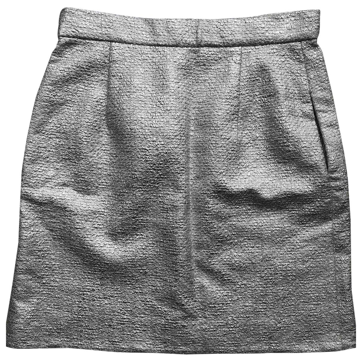 Carven - Jupe   pour femme en coton - metallise