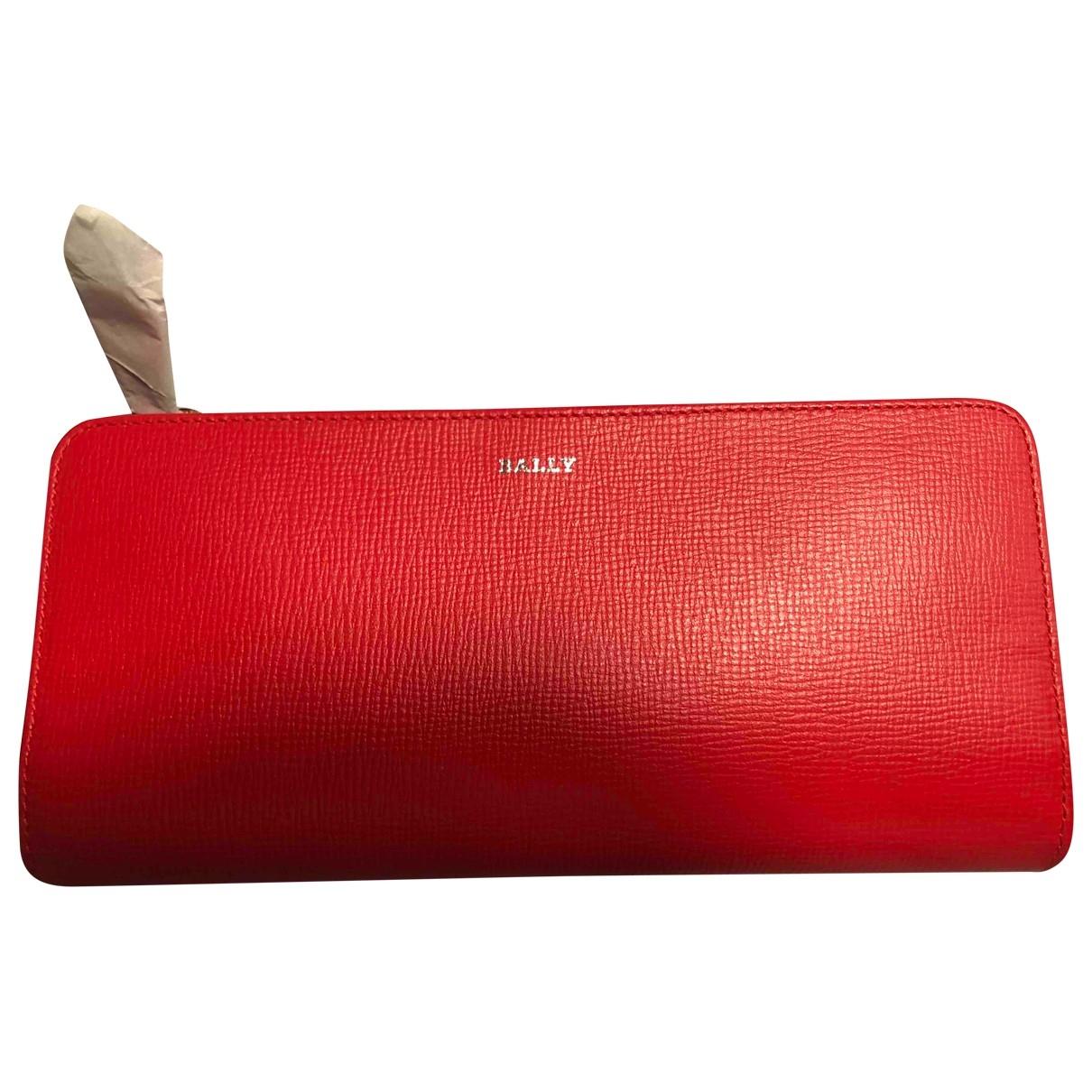 Bally - Portefeuille   pour femme en cuir - rouge