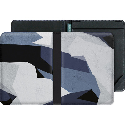 tolino vision 2 eBook Reader Huelle - Geometric Camo Blue von caseable Designs