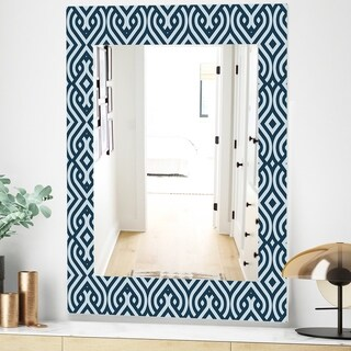 Designart 'Obsidian Impressions 1' Traditional Mirror - Wall Mirror (23.7 in. wide x 31.5 in. high)