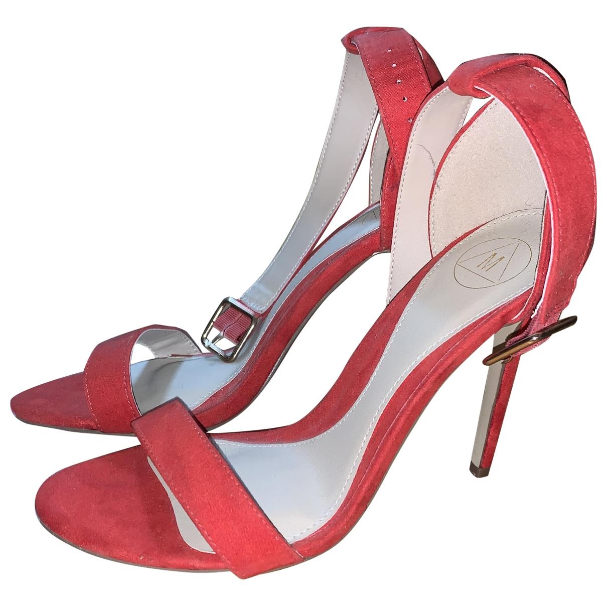 - Escarpins   pour femme en velours - rouge